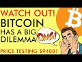 WATCH OUT! BITCOIN'S BIG DILEMMA TO PUMP ALTCOINS IN 2020 - BTC PRICE TESTING $9400