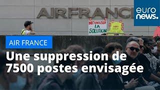 AIR FRANCE -KLM Air France : vers une suppression de plus de 7500 postes