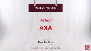 AXA Action Axa : rejet attendu sous la résistance majeure - Flash analyse IG 22.05.2018