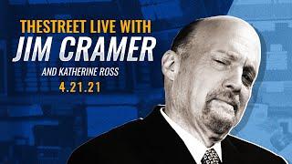 NETFLIX INC. Live | Netflix, Apple, Rotation from Pandemic Favorites: Jim Cramer's Stock Market Breakdown - 4/21