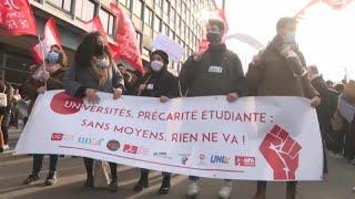 Protestas de los universitarios franceses