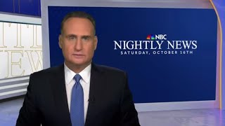 Nightly News Full Broadcast (October 16th)