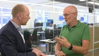 Zoomabilitys vd Per-Johan Fager intervjuas av Nyhetsbyrån Direkt