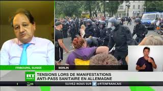 Gilbert Casasus revient sur la manifestation contre les mesures sanitaire à Berlin