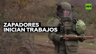 Zapadores rusos remueven minas en Nagorno Karabaj