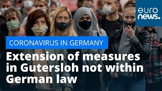 'Not legally valid': Extension of district-wide measures in Gutersloh not within German law