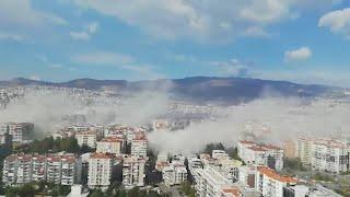 Gevolgen aardbeving Turkije: instortende gebouwen en tsunami