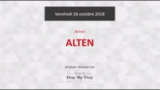 ALTEN Action Alten : au contact d'une résistance majeure - Flash analyse IG 26.10.2018