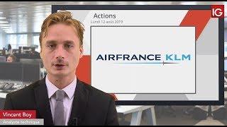 AIR FRANCE -KLM Bourse - AIRFRANCE, correction technique probable sur le titre - IG 12.08.2019