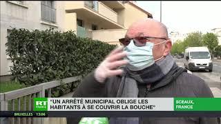 A Sceaux, les habitants ont l'obligation de se couvrir le nez et la bouche pour sortir de chez eux