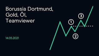 BORUSSIA DORTMUND Borussia Dortmund, Gold, Öl, Teamviewer ( CMC Börsenbuffet 14.05.21)