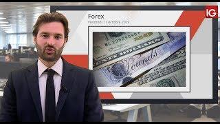 GBP/USD Bourse - GBPUSD rebond sur les 1.2200 - IG 11.10.2019