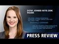 Dow Jones ultrapassa 20 mil