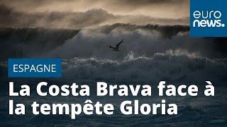 La Costa Brava fait face à la tempête Gloria