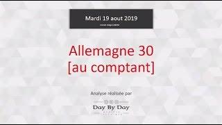 DAX30 Perf Index Vente Allemagne 30 (au comptant) - Idée de trading IG 20.08.2019