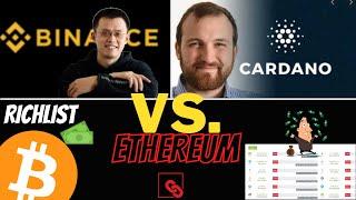 ETHEREUM Binance Coin BNB überholt ETHEREUM! Cardano mit Ansage an ETH 2 0 | HashRate All Time High | DOGE