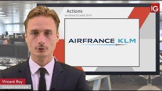 AIR FRANCE -KLM Bourse - AIRFRANCE-KLM, un intermédiaire en soutien - IG 02.08.2019