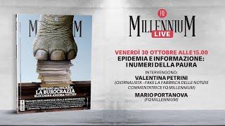 """MILLENNIUM LIMITED """"Epidemia e informazione: i numeri della paura"""" MillenniuM LIve con Valentina Petrini"""