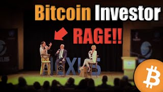 BITCOIN Yikes! Watch This Bitcoin Investor RAGE in Front of a Live Audience [Emotional]