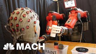 BAXTER INTERNATIONAL INC. Baxter The Friendly Robot Functions Using Mind Control   Mach   NBC News