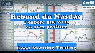 NASDAQ100 INDEX Rebond du Nasdaq comme prévu par Benoist Rousseau - Andlil.com