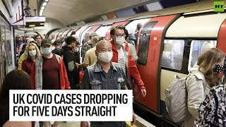 UK sees FIVE-DAY continuous DROP in Covid cases