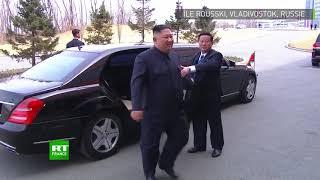 Poignée de main historique : première rencontre de Vladimir Poutine et Kim Jong-un en Russie