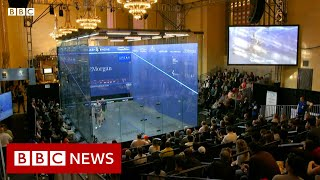 Squash seeks recognition in famed NYC rail station - BBC News